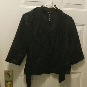 Forever 21 women's no collar coat jacket size L